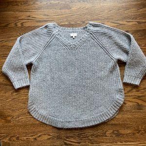 Lou & gray oversized gray knit sweater